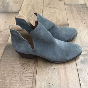 Lucky Brand Birtie Booties Ankle Boots Gray 8.5